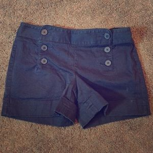 Express Designstudio Navy Blue Shorts